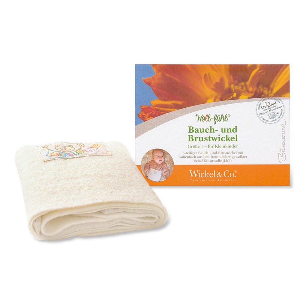 GTIN: 4260646090131, 4260646090148; Woll-fühl® Bauch- und Brustwickel für Kinder